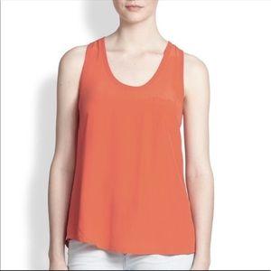 Joie 'Alicia' silk tank top - peachy/orange